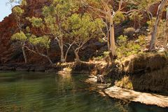 Ellery zatoczki Duża dziura, terytorium północne, Australia zdjęcia stock