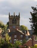 Ellesmere Shropshire Parish Church tower. Church tower of parish church in Ellesmere Shropshire in England Royalty Free Stock Photo