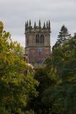 Ellesmere Shropshire Parish Church tower. Church tower of parish church in Ellesmere Shropshire in England Royalty Free Stock Image