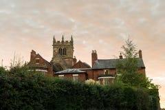 Ellesmere Shropshire Parish Church tower Stock Photography