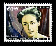 Elli Lambeti (1926-1983),剧院和戏院serie,大约2009年 免版税库存照片