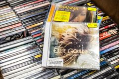 Ellie Goulding CD album Bright Lights 2010 on display for sale, famous English singer and songwriter stock images