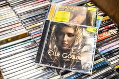 Ellie Goulding CD album Lights 2010 on display for sale, famous English singer and songwriter stock photography