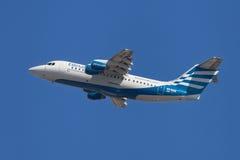 Ellinair British Aerospace Avro RJ85 Stock Photography