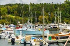 Elliot bay doku schronów marina Seattle Washington Obraz Stock