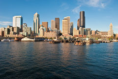 Elliot Bay and downtown Seattle, USA. Downtown seattle as seen from Elliot Bay Royalty Free Stock Photography