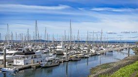 Elliot Bay Marina fotos de archivo