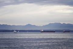 Elliot Bay panorama Stock Photos