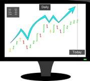 Elliot bullish stock bar chart Stock Photos