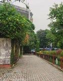 Elliot Park i central del av Calcutta, Indien fotografering för bildbyråer