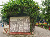 Elliot Park na parte central de Calcutá, Índia imagens de stock royalty free
