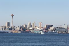 Elliott Bay, Washington State Ferry, Seattle Royalty Free Stock Photo