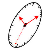 Ellips ha modellato l'orologio royalty illustrazione gratis