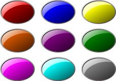 Ellipse buttons Royalty Free Stock Photos