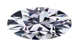Ellipse diamond Stock Photo