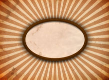 Ellipse frame with rays Royalty Free Stock Photo
