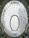 Ellipse transparent ceiling Royalty Free Stock Images