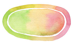 Ellipse watercolor painted background. Paper texture Royalty Free Stock Photo