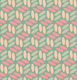 Ellipses arrondies sans couture de vecteur dans le rose et le Teal Pattern Photos stock