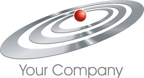 Ellipses logo. A logo made by ellipses stock illustration