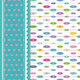 Ellipses and polka dot greeting card Stock Image