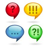Ellipsis, exclamation, question marks Royalty Free Stock Images
