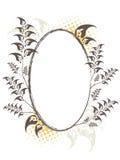 Elliptic floral frame Stock Image