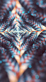 Elliptic fractal. Elliptical split fractal with bokeh Royalty Free Stock Photo