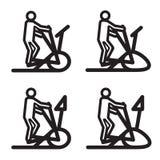 Elliptical cardio trainer icon. Vector illustration. Royalty Free Stock Photo