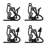 Elliptical cardio trainer icon. Vector illustration. Eps10 Stock Photo