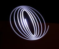 Elliptical Light. An elliptical light painting photograph Royalty Free Stock Photo