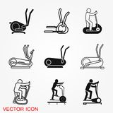 Elliptical machine gym icon, vector sign symbol for design. Elliptical machine gym icon, vector sign symbol vector illustration