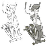 Elliptical Machine Line Drawing Royalty Free Stock Photo