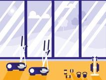 Elliptical machine with weights sport gym. Vector illustration design vector illustration