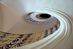 Elliptical staircase in the monastery Plasy royalty free stock photography