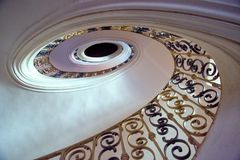 Elliptical staircase in the monastery Plasy royalty free stock photo