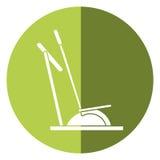 Elliptical walker trainer machine gym shadow. Vector illustration eps 10 vector illustration
