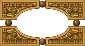 Elliptisch houten kader Stock Foto's