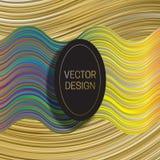 Elliptisch kader op dynamische kleurrijke achtergrond In holografisch van de verpakkingsontwerp of dekking malplaatje stock illustratie
