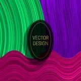 Elliptisch kader op kleurrijke dynamische achtergrond In van de verpakkingsontwerp of dekking malplaatje royalty-vrije illustratie