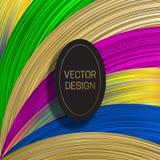 Elliptisch kader op verzadigde kleurrijke achtergrond In holografisch van de verpakkingsontwerp of dekking malplaatje stock illustratie