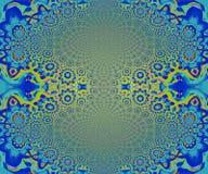 Elliptisch ornamenten blauw turkoois vector illustratie