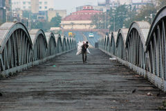 Ellis brige: Δομή κληρονομιάς, Ahmedabad, Ινδία Στοκ Εικόνα