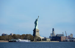 Ellis Island. Photo of Ellis Island / Statue of Liberty Taken From New Jersey Side Royalty Free Stock Images