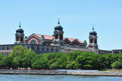 Ellis Island. A view of the Ellis Island immigration museum in the New York Harbor Stock Image