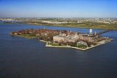 Ellis Island. Aerial view of Ellis Island, New York City Stock Photos