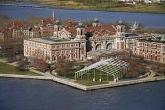 Ellis Island. Aerial view of Ellis Island, New York City Royalty Free Stock Images