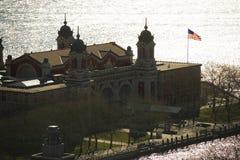 Ellis Island. Aerial view of Ellis Island, New York City Royalty Free Stock Image