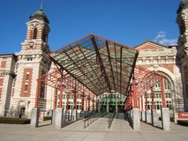 Ellis Island. First stop for immigrants arriving at New York was Ellis Island Stock Photo