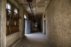 Ellis island abandoned psychiatric hospital interior rooms Stock Photo